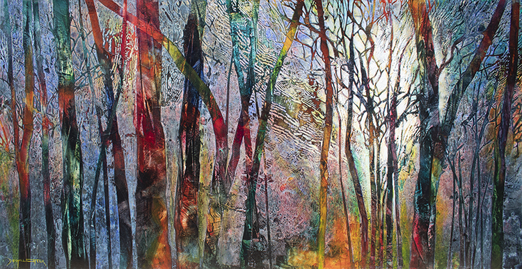 Forest vibrations 76x153 $2600